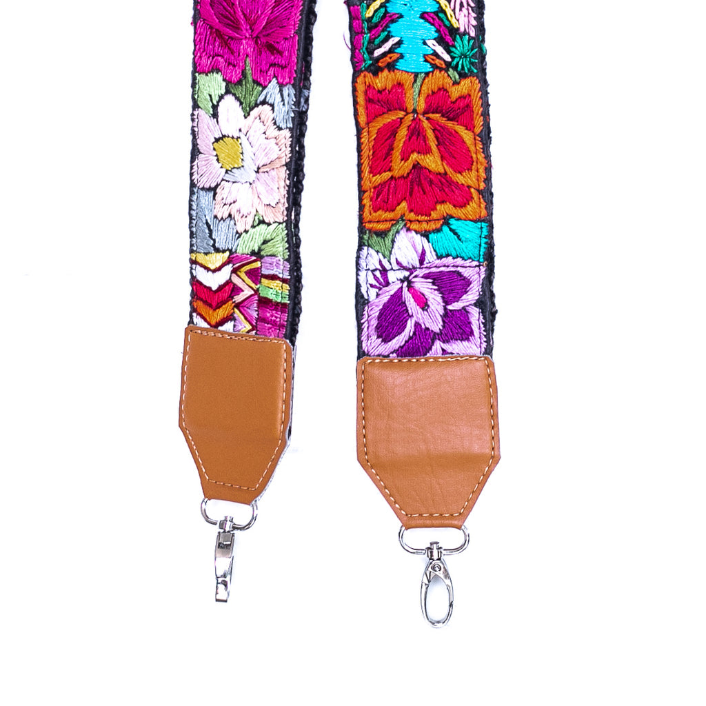 Vintage Embroidered Vegan Strap - 02273