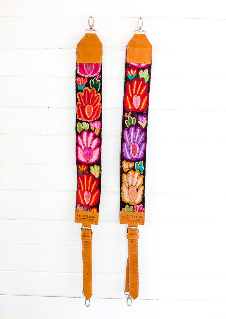 Embroidered Backpack Straps - Isabel