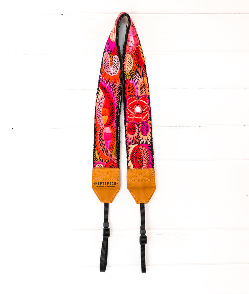Vintage Embroidered Camera Strap - Gulf