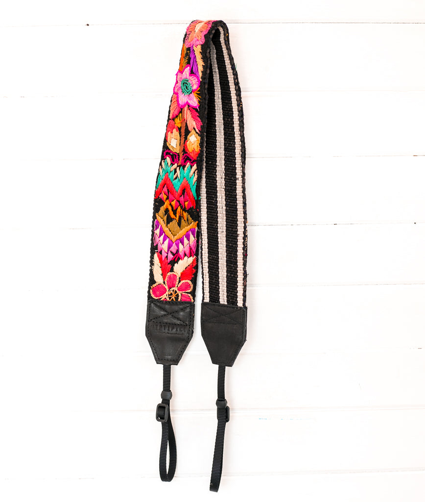 Vintage Embroidered Camera Strap - Prima
