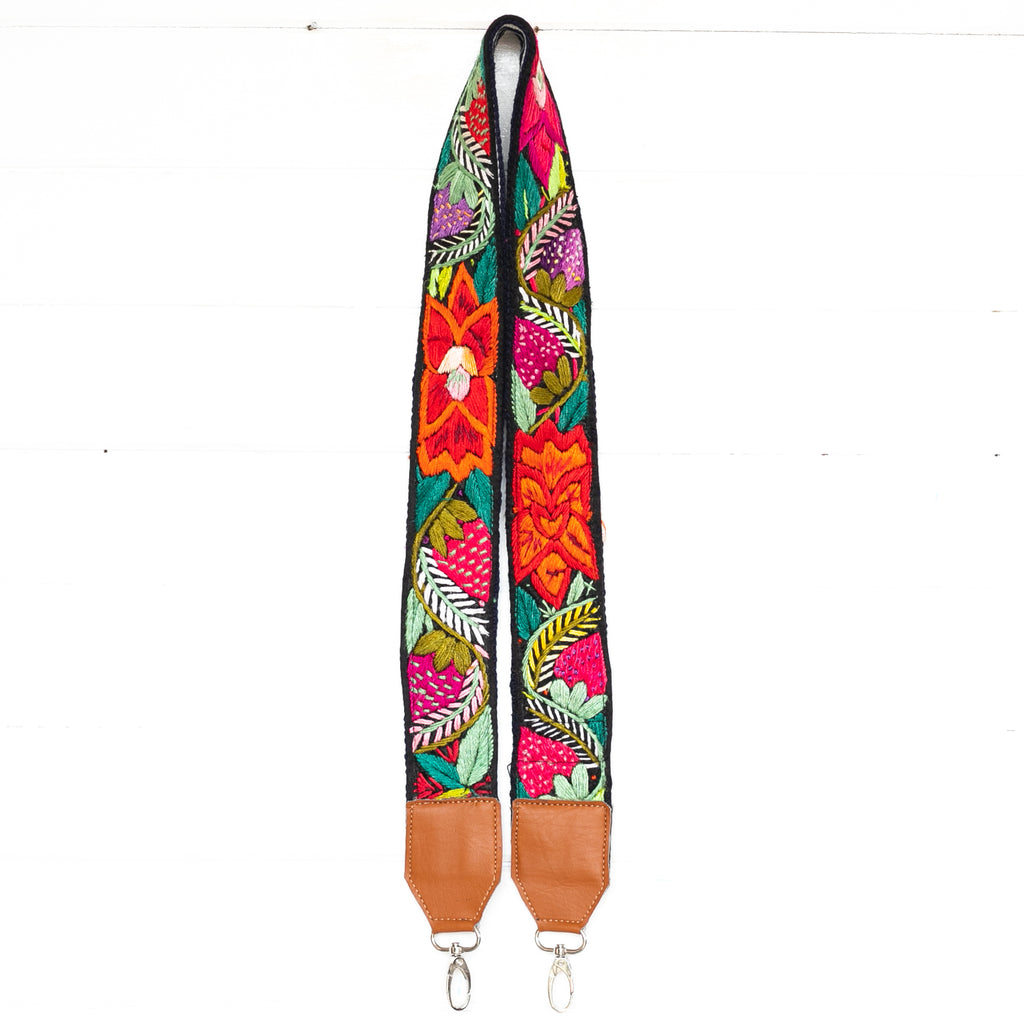 Vintage Embroidered Vegan Strap - 02036