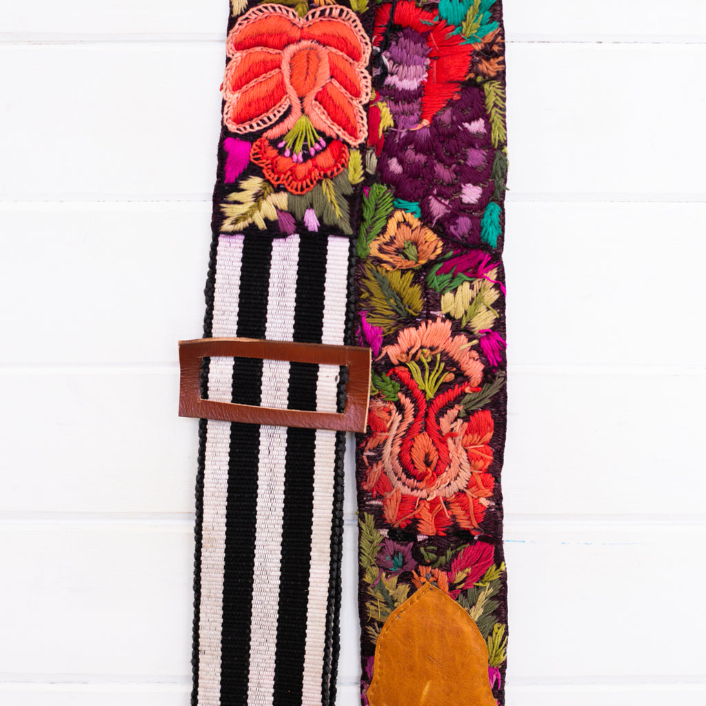 Embroidered Guitar Strap - No. 001