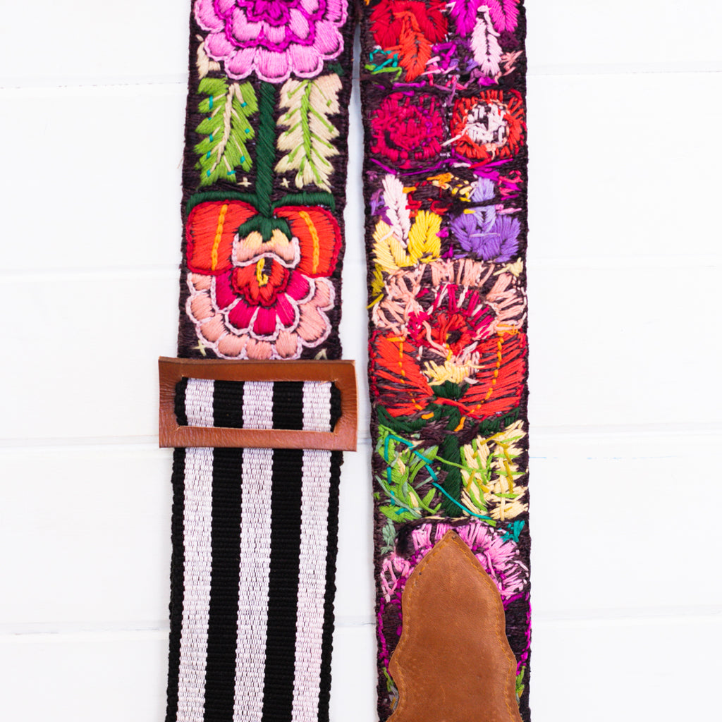 Embroidered Guitar Strap - No. 004