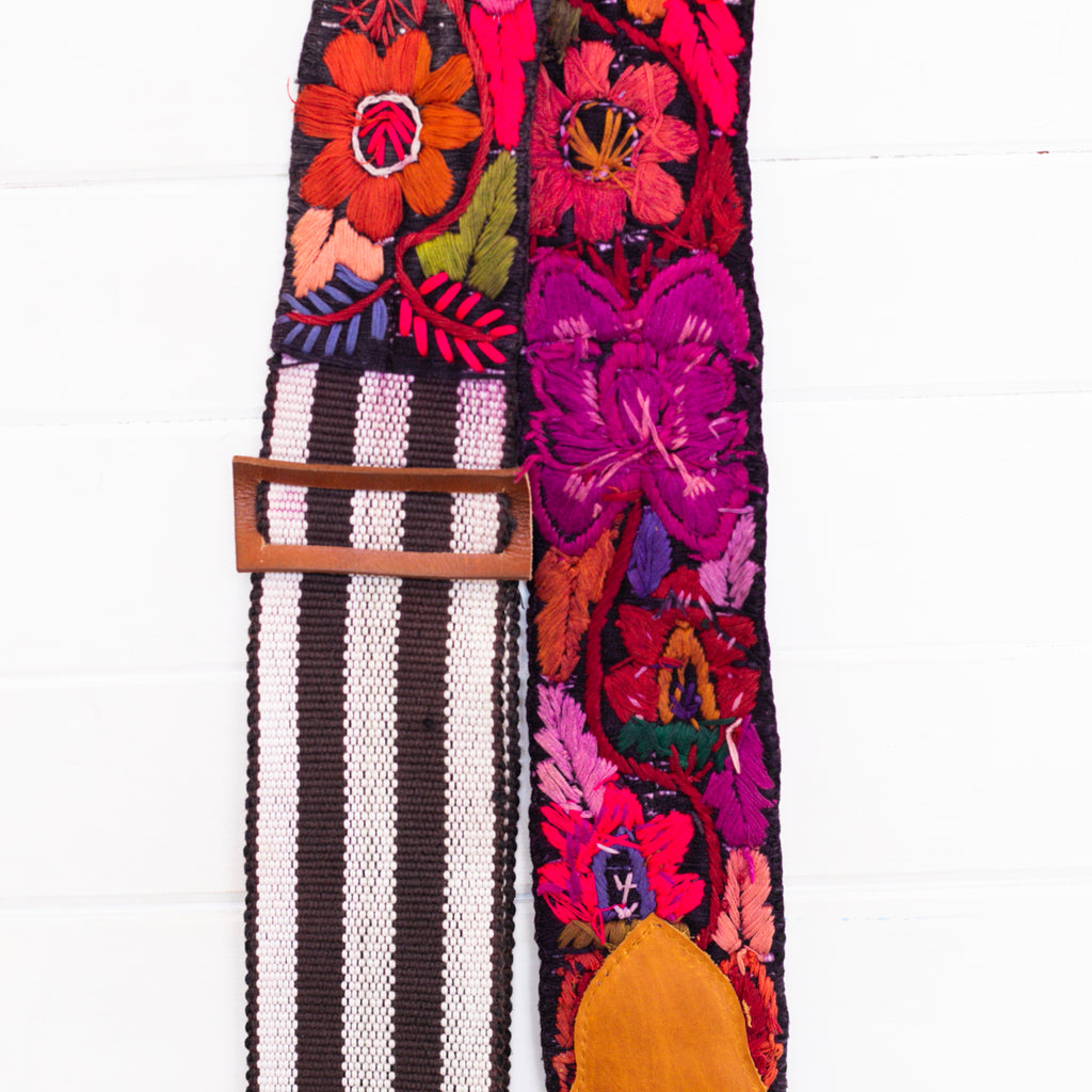 Embroidered Guitar Strap - No. 005
