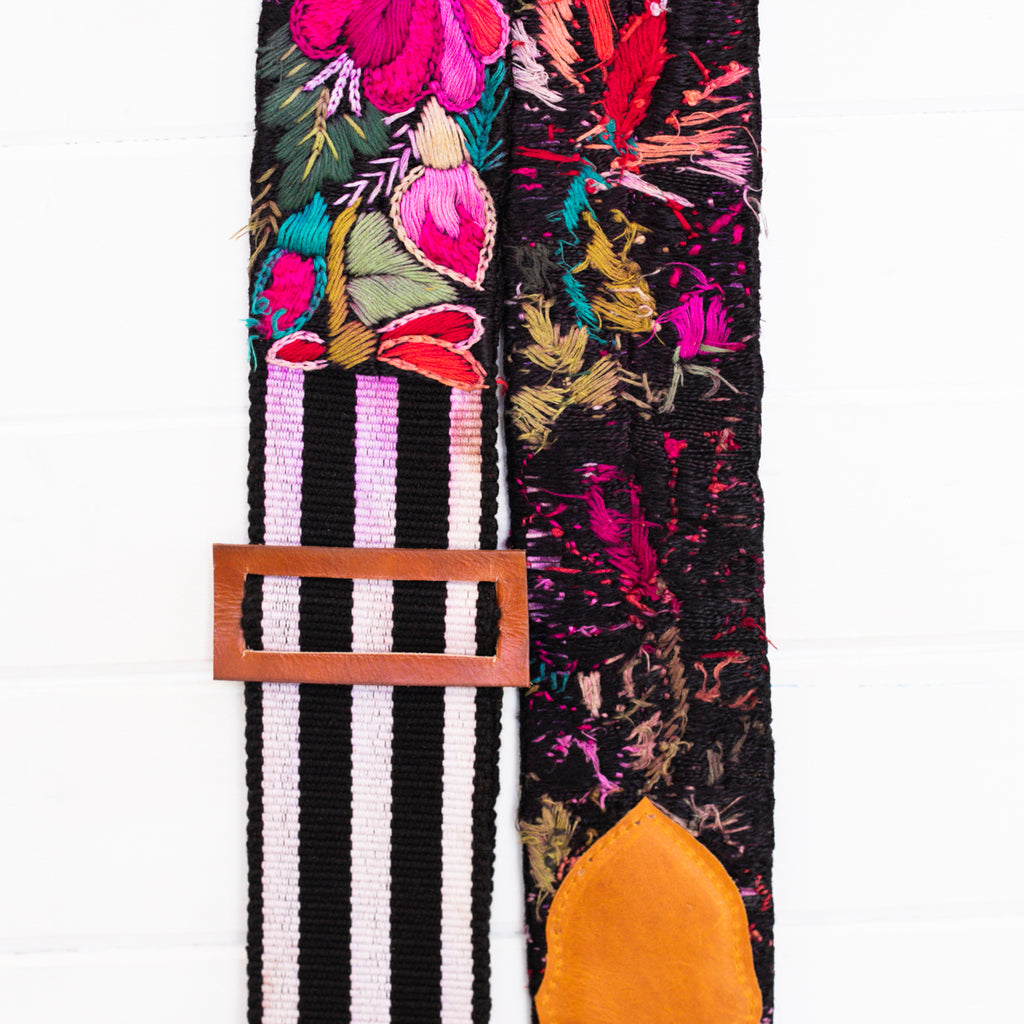 Embroidered Guitar Strap - No. 006
