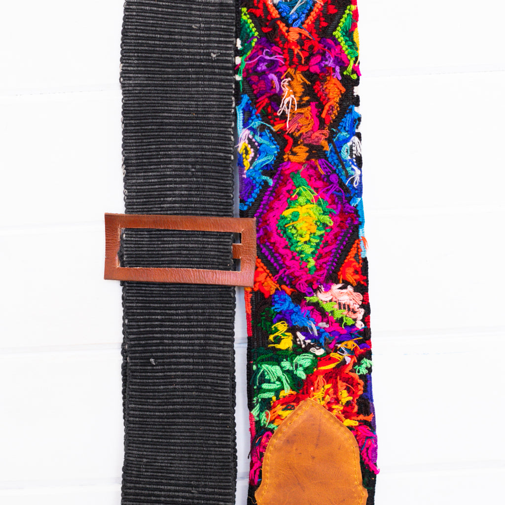 Embroidered Guitar Strap - No. 009