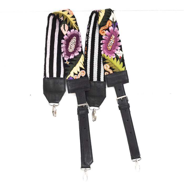 Vintage Embroidered Backpack Strap - 02088