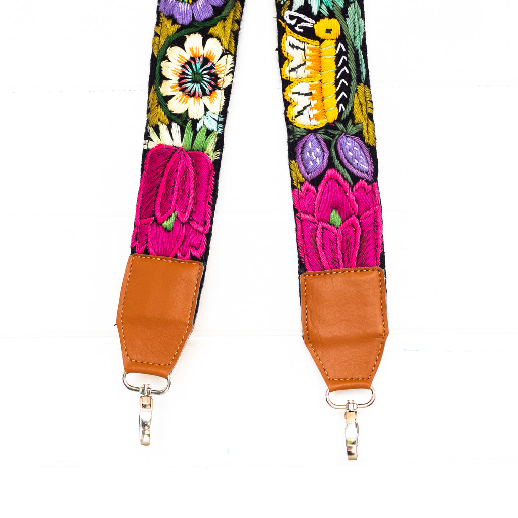 Vintage Embroidered Vegan Strap - 02116