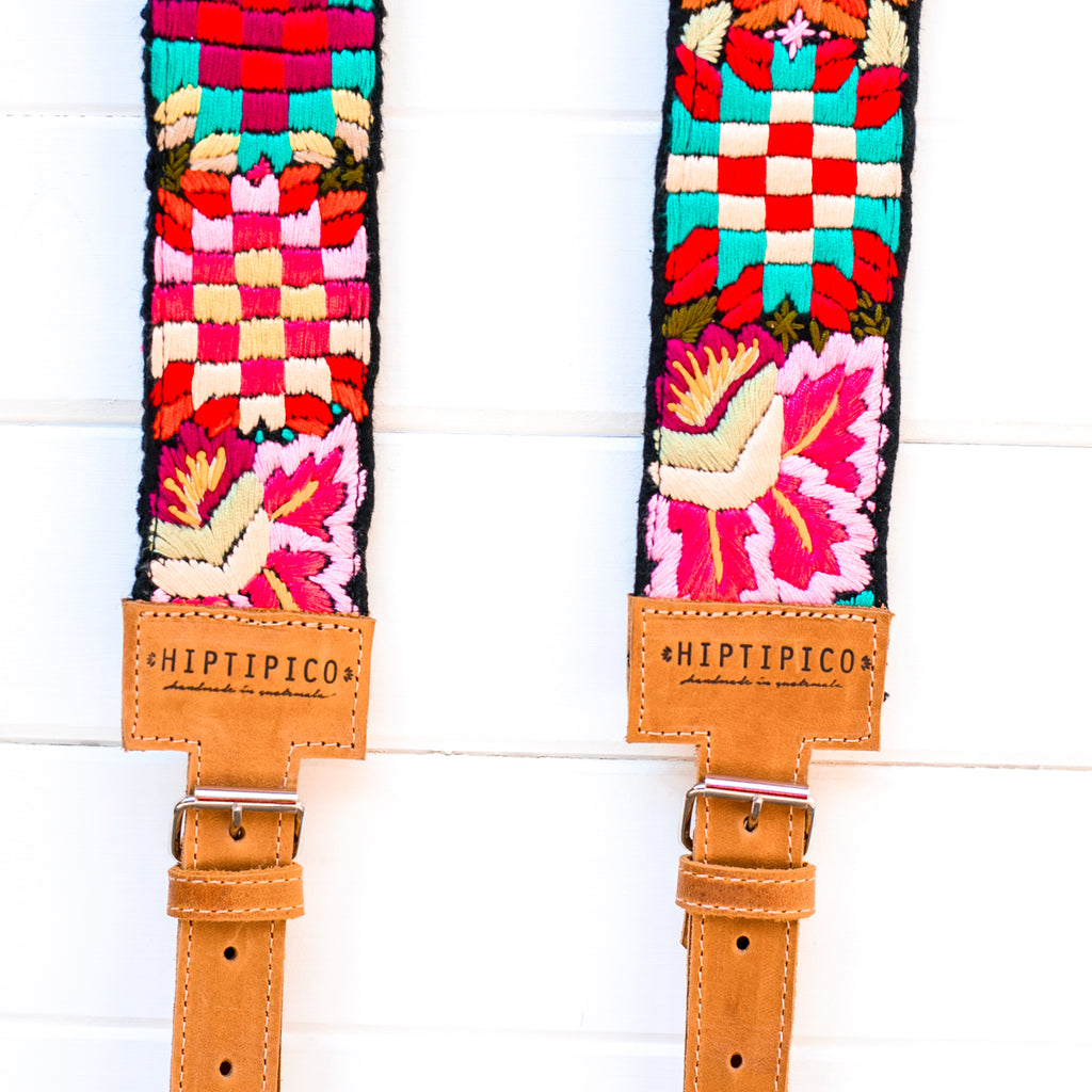 Newly Embroidered Backpack Straps - Tikal Sun