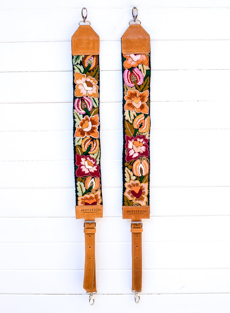 Newly Embroidered Backpack Straps - Willow