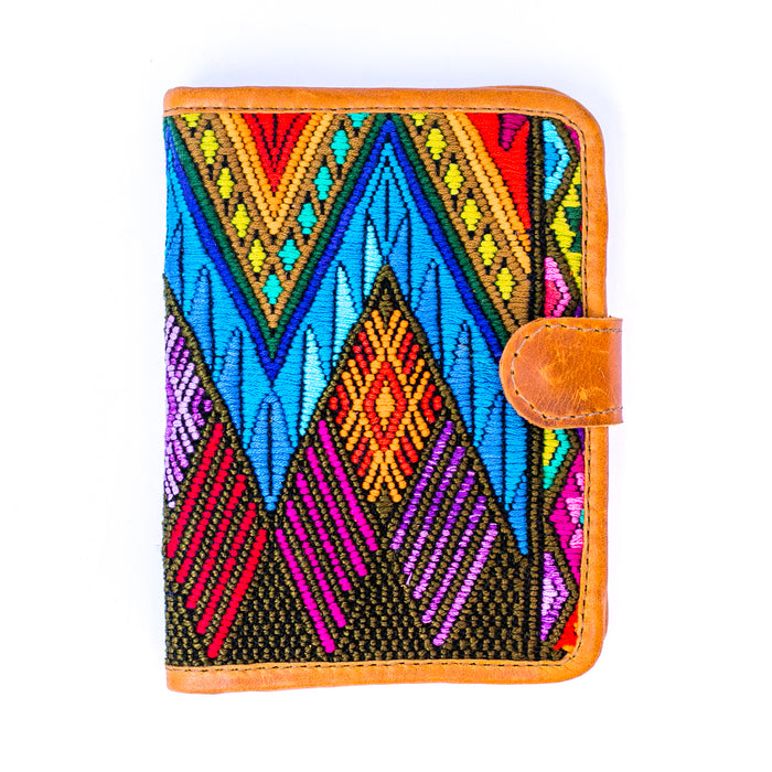 Hiptipico passport wallet, ethically made travel gear, ethical passport wallet, textile passport wallet, passport cover, passport wallet, ethical travel gear, Guatemalan textile wallet, Free People passport cover