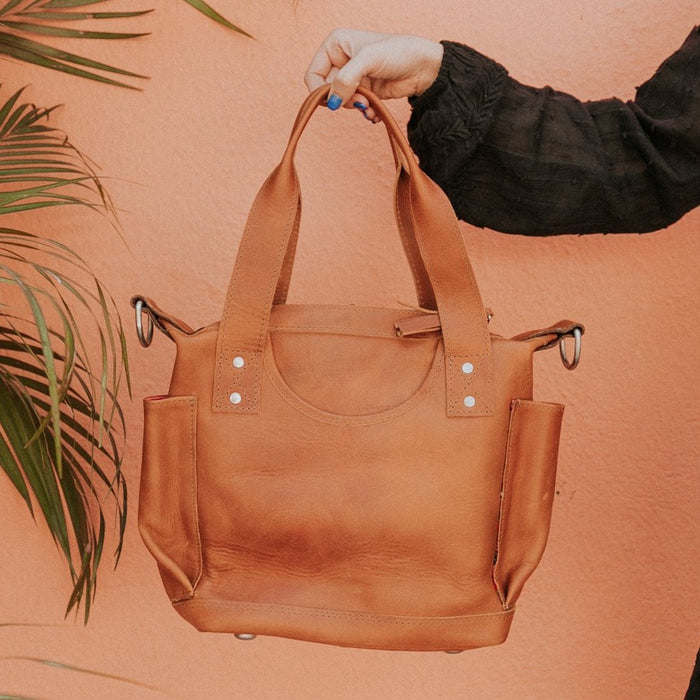 Hiptipico Bags, Hiptipico Leather Convertible Bag, Hiptipico CDB, Textile Bags, Handmade Convertible bags, Free People Leather Bags, Tan Leather Bags