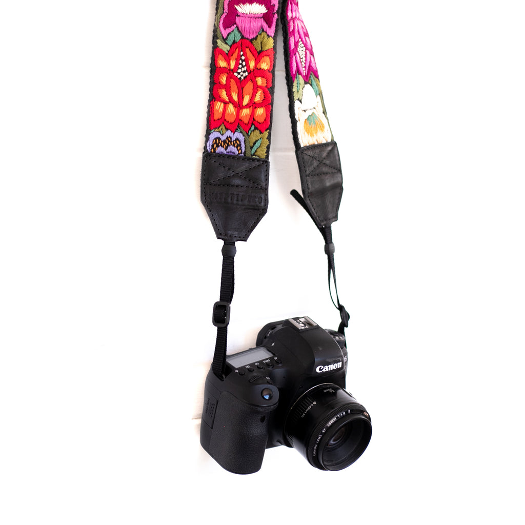 Newly Embroidered Camera Strap - Oasis