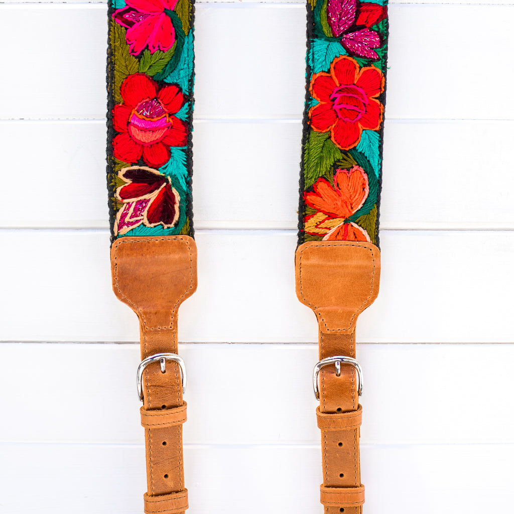 Luxury Embroidered Backpack Straps - Justicia