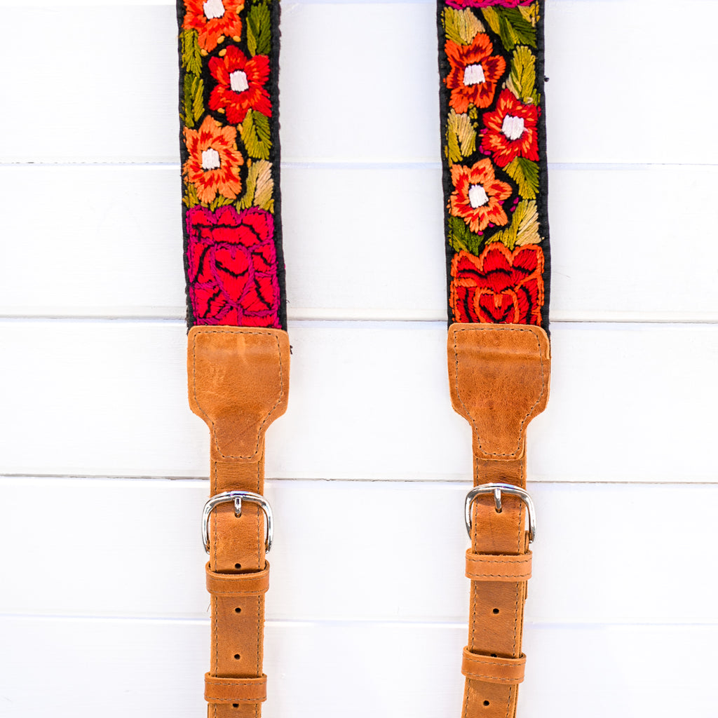 Luxury Embroidered Backpack Straps - Fuerza