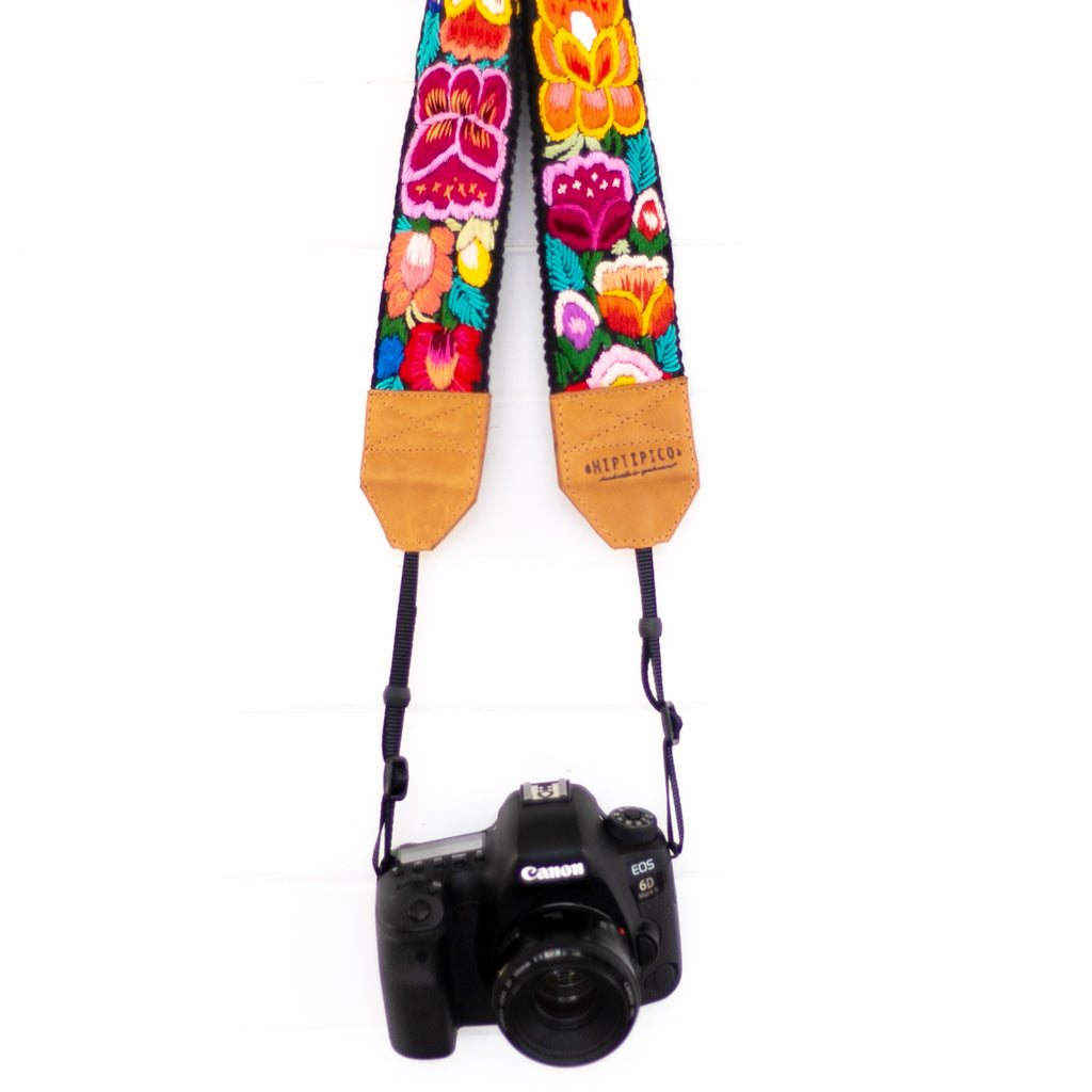 Newly Embroidered Camera Strap - Eden