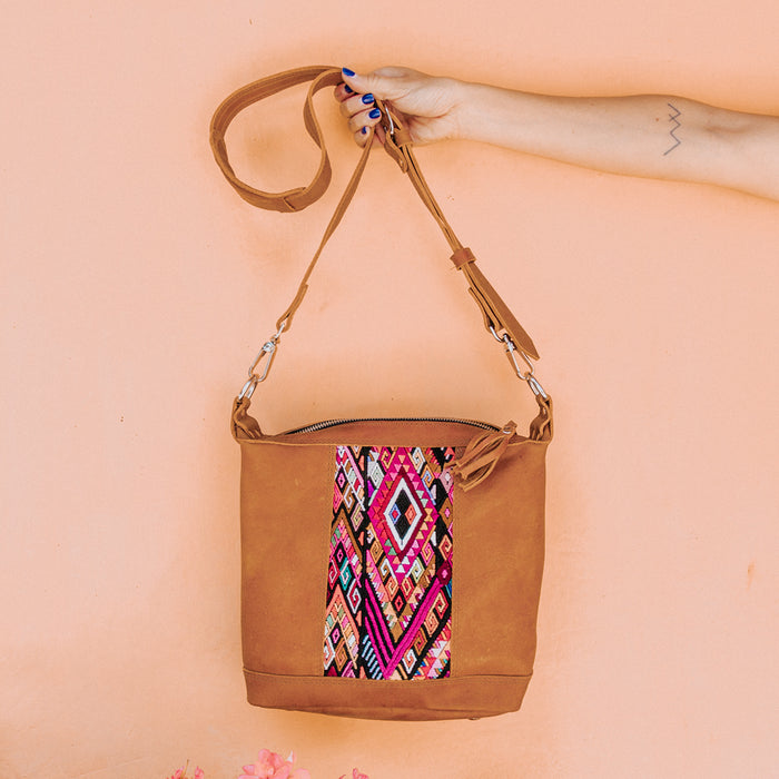 Hiptipico Leather Mini Cross Body Huipil Purse, Hiptipico Bags, Hiptipico Leather Bags, Hiptipico Crossbody Bags, Textile Bags, Leather Crossbody Bags, Handmade Handbags, Free People Leather Bags,