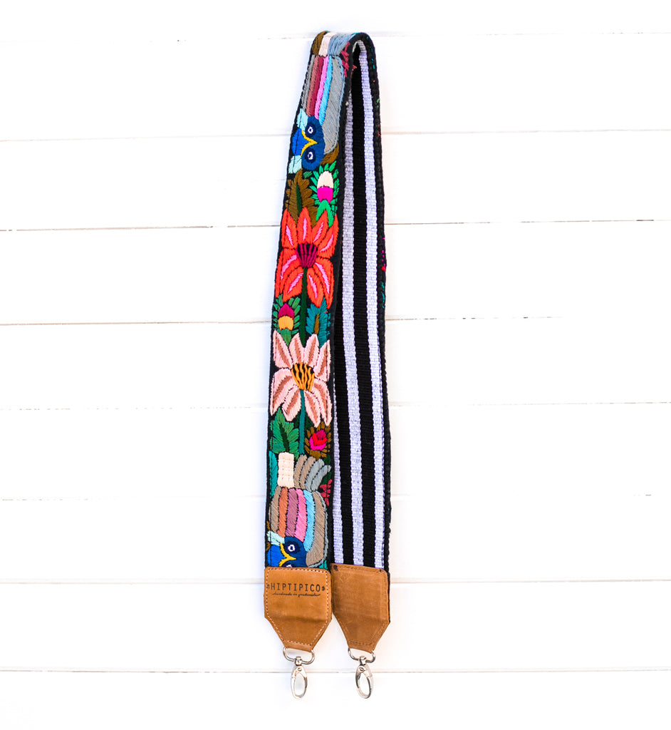 Chontalá Embroidered Strap - Jewel Feather