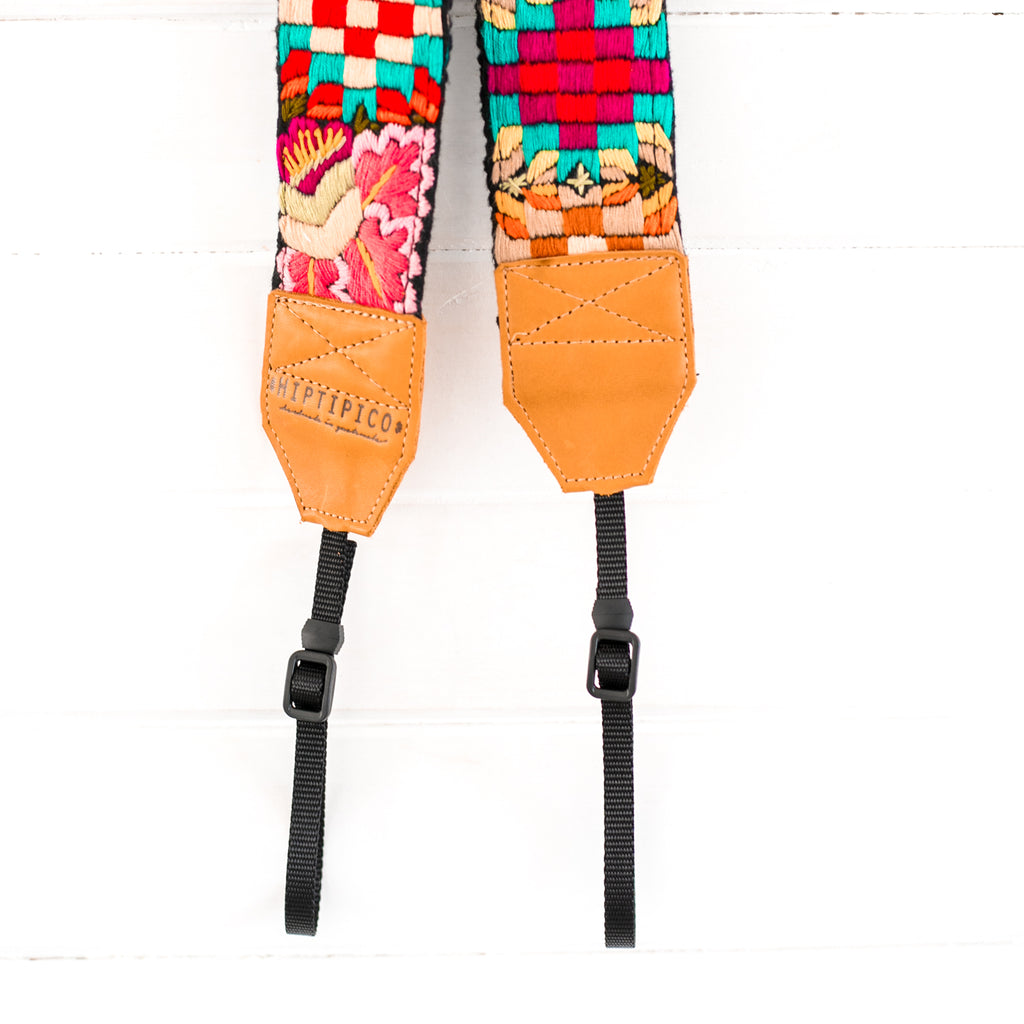 Newly Embroidered Camera Strap - Tikal Sun