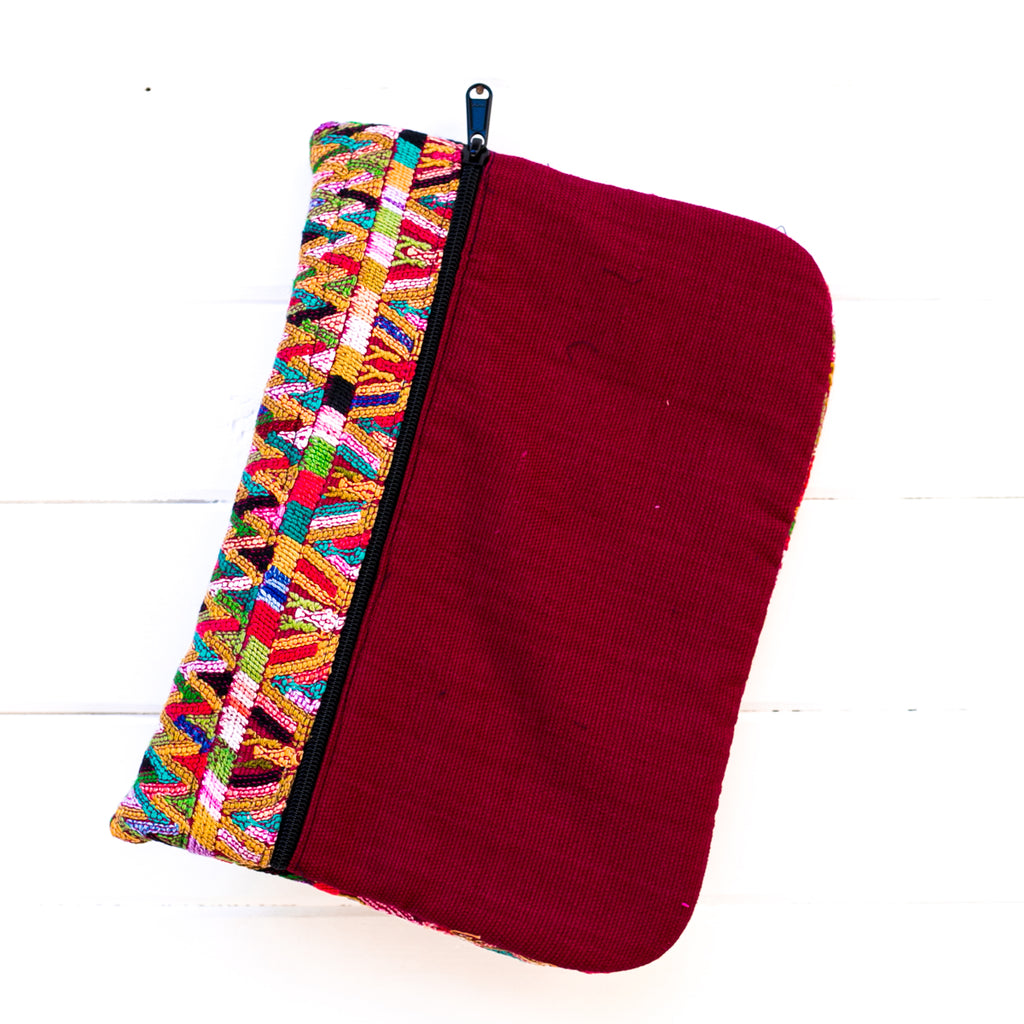 Embroidered Ipad Case - Crimson