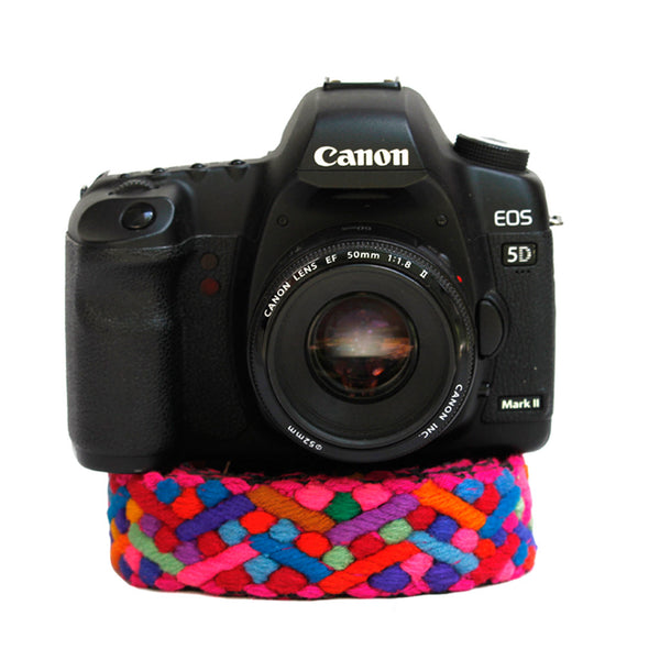 Hiptipico Embroidered Camera Straps, Unique Photographer Gift Idea, Photography Accessories, Bohemian Textile Tapestry Colorful Camera Bag