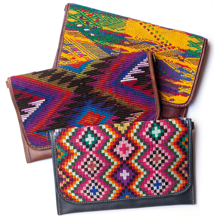 Custom made clutches, personalized clutches, guatemalan embroidered clutches, ethically made clutches, best choices for ethically sourced clutches