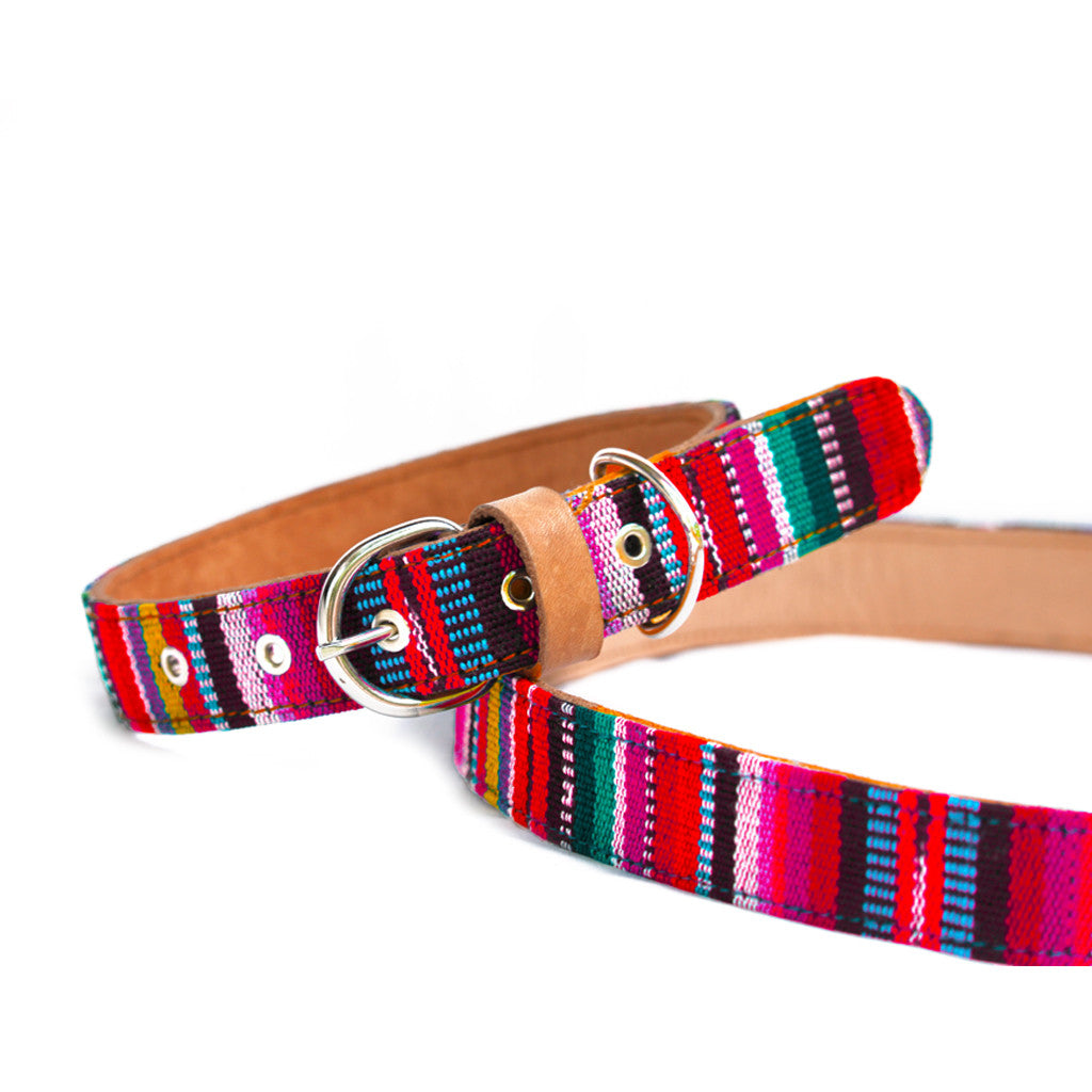Hiptipico Dog Collars, Colorful Dog Necklace, Bohemian Pet Accessories, Boho Dog Collar, Bohemian Textile Colorful Dog Collar