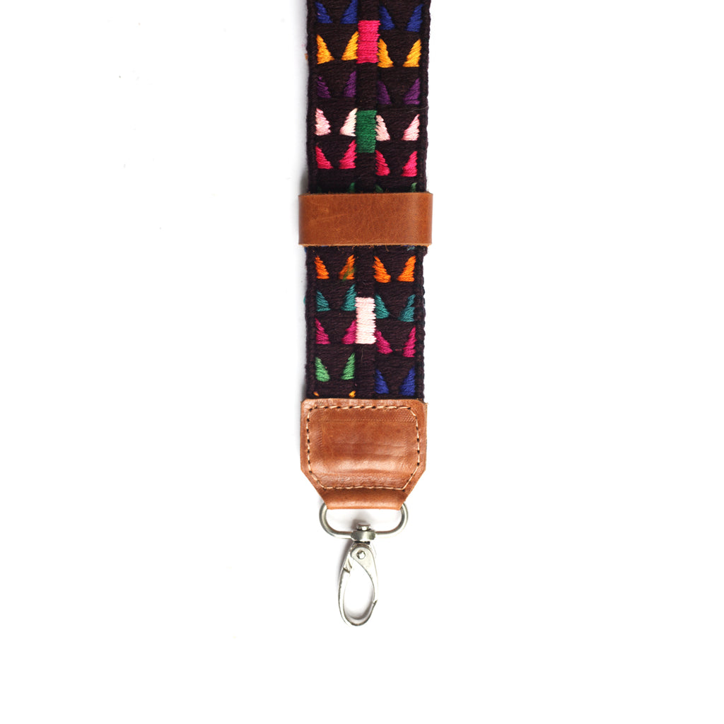 Leather Embroidered Wristlet - No. 268 Deserto