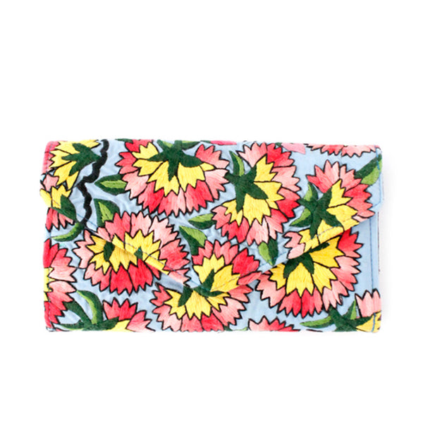 Hiptipico Textile Wallet, Boho Tapestry Wallets for Women, Free People Bohemian Carpet Textile Woven Wallet, Boho Multicolored Woven Wallets Handmade from Vintage Textiles, Spacious Colorful Travel Wallet, floral wallets, embroidered flower wallet