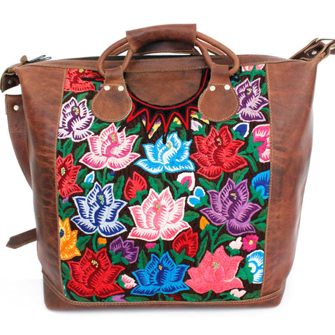 Hiptipico Weekend Travel Bags, Cute Weekend and Travel Bags for Women, Artisanal Duffle Tapestry Embroidered Bags, Unique Carryall and Carry-ons for Bohemian Traveling Woman, Bohemian Textile Festival Spacious Weekend Bag Hiptipico Maleta Weekender, Hiptipico Embossed Leather Tote Bags for Women, Luxury Tooled Leather Handbags for Women, Artisanal leather Crafted Feminine Handbags with Braided Leather