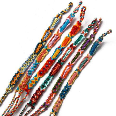 Hiptipico Braided Friendship Bracelets, Bohemian Festival Tribal Bracelets, Boho Colorful Braided Bracelets, Pura Vida Friendship Bracelets
