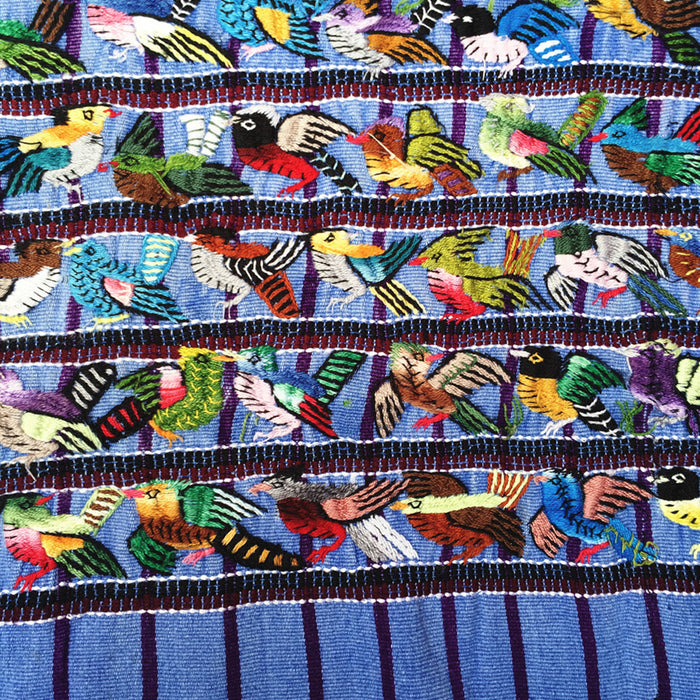 Embroidered Huipil: Santiago Birds
