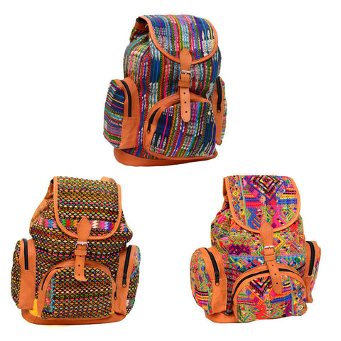 Wholesale: Embroidered Maya Backpacks