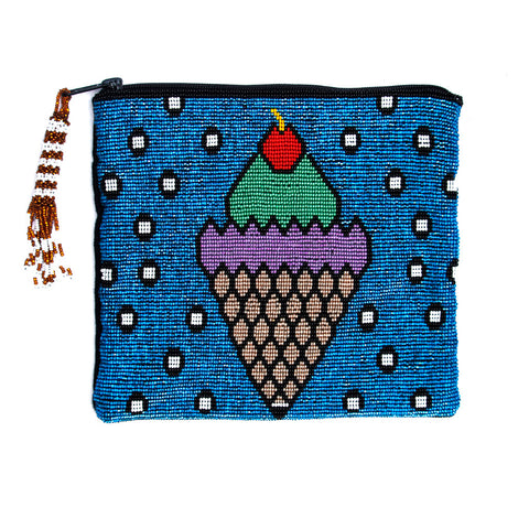 Hiptipico Beaded Clutch Bag, Bohemian Geometric Beaded Clutch Bag, Boho Beaded Travel Pouch, Anthropologie Beaded Clutch Bag,