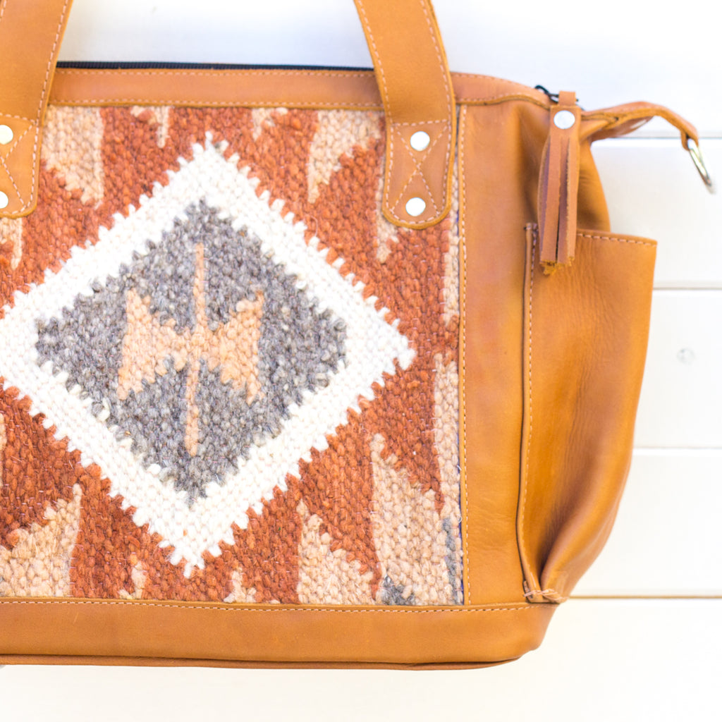 Artisanal Wool Convertible Bag - 390 Fort Worth
