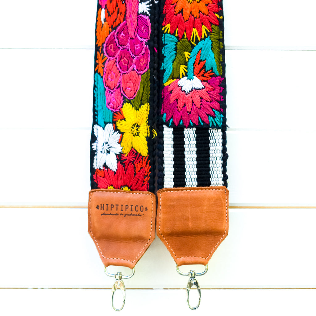 Leather Embroidered Strap - No. 944 Glacier Bay