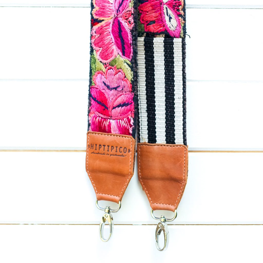 Leather Embroidered Strap - No. 971 Acadia