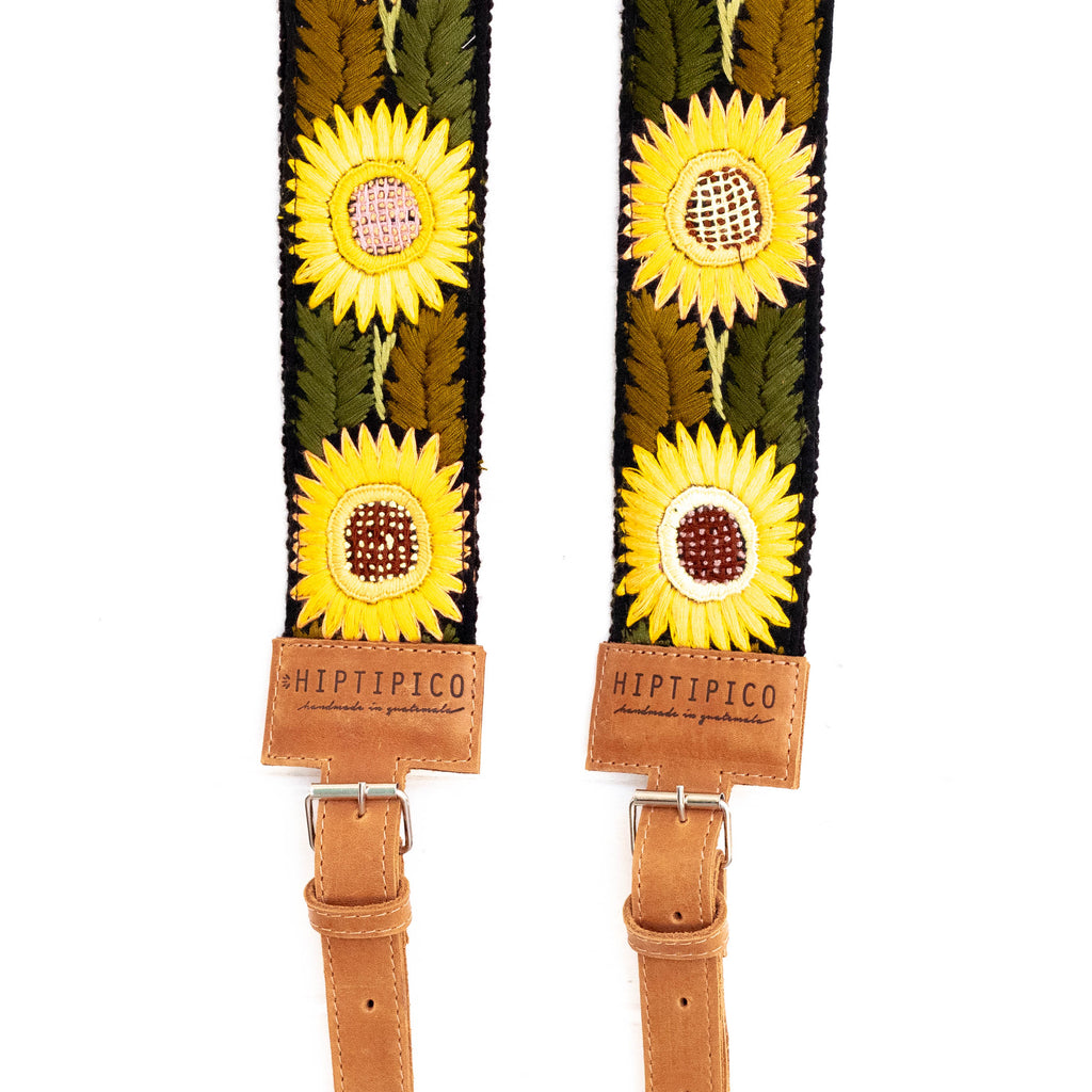 Newly Embroidered Backpack Strap - Sunflower