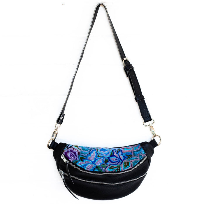 Hiptipico Sling Bags, Hiptipico Fanny Packs, Hiptipico Belt Bags, Full Leather Belt Bags, Floral Textiles Sling Bags, Guatemalan Textile Sling Bags, Top Grain Leather Fanny Packs, Free People Sling Bags, Free People Leather Convertible Bags,