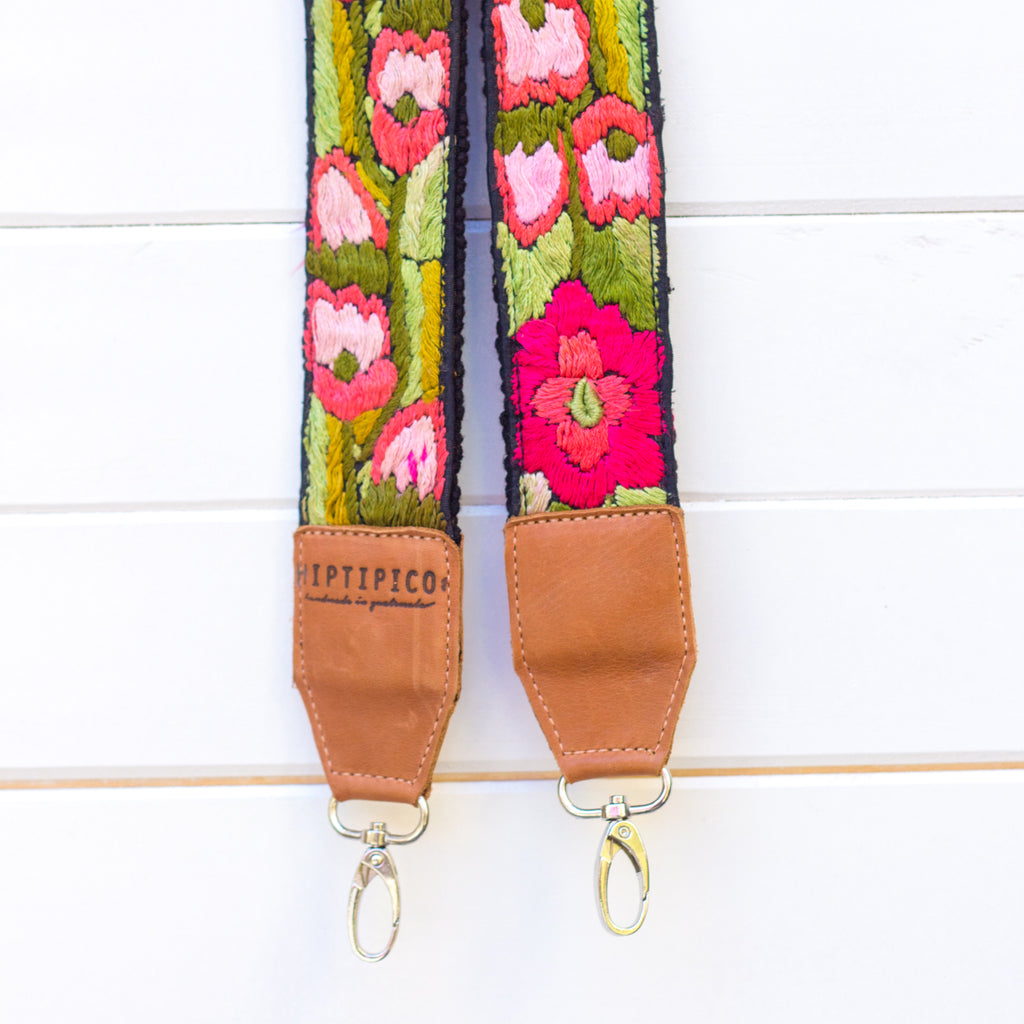 Leather Embroidered Strap - No. 990 Cascades