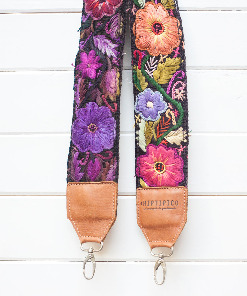 Leather Embroidered Strap - No. 669 Tasmania
