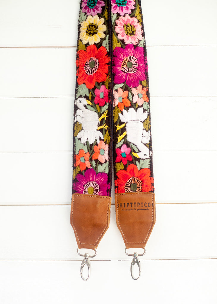 Leather Embroidered Strap - No. 684 Fiji