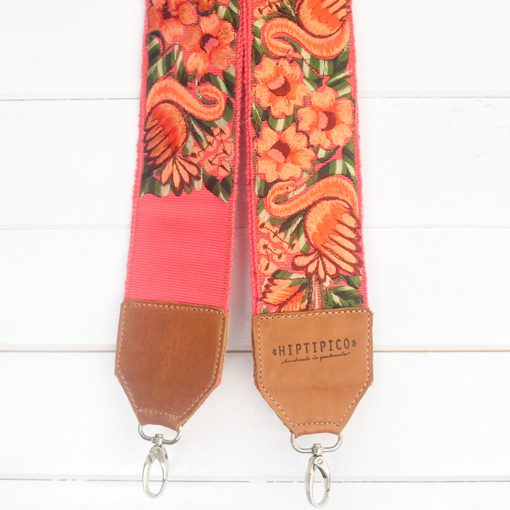 Leather Embroidered Strap - No. 692 Swan Lake