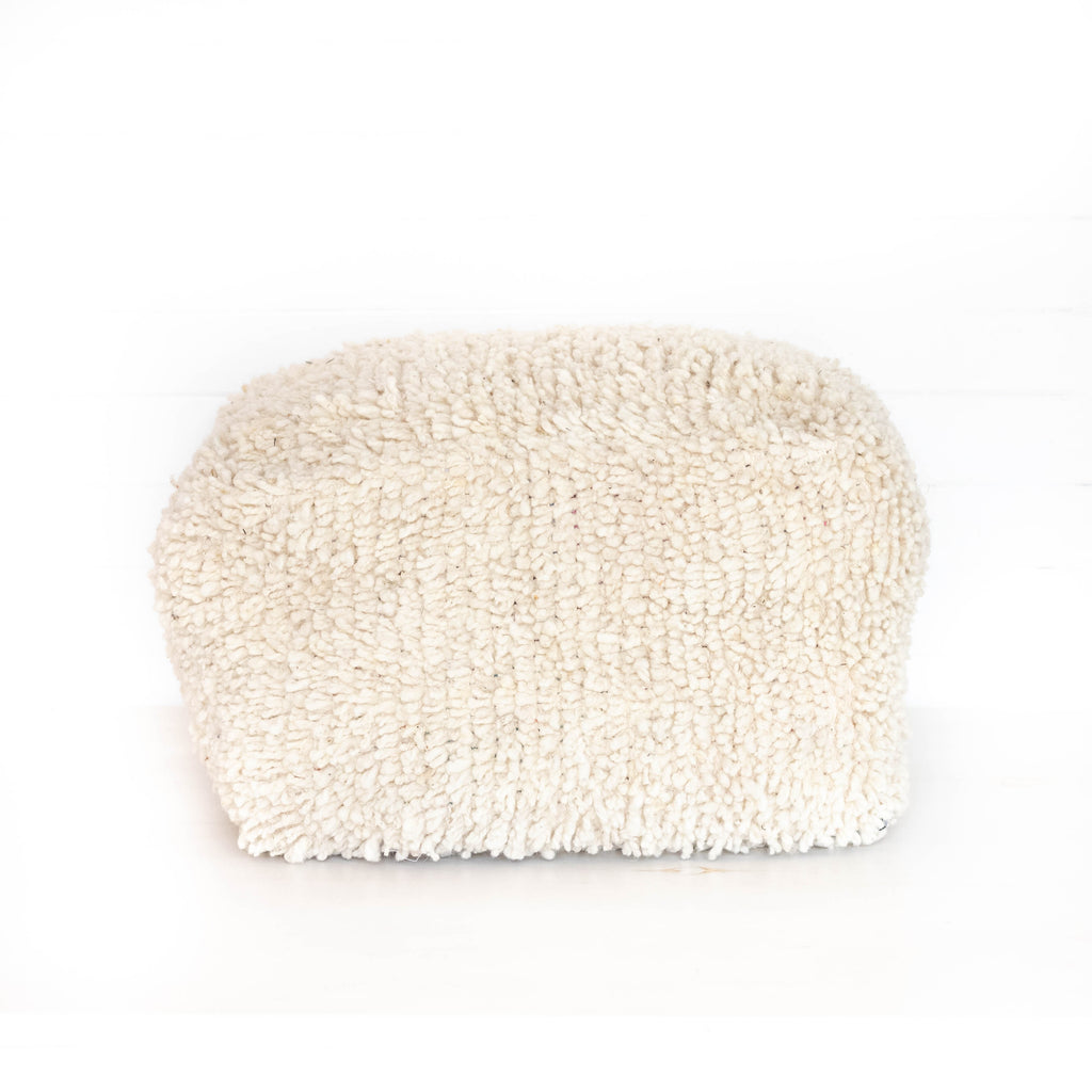Casa Floor Pouf Small - Wool White