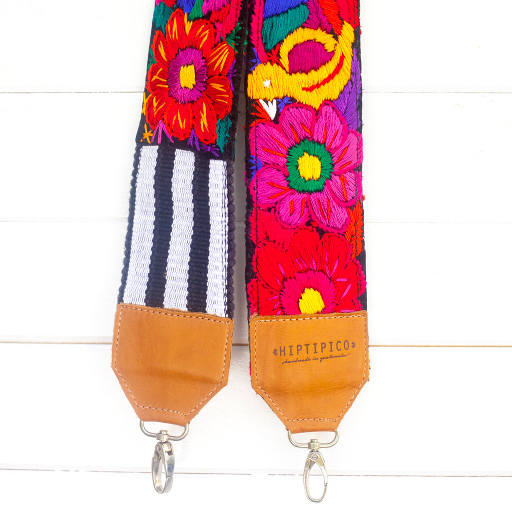 Leather Embroidered Strap - Madagascar