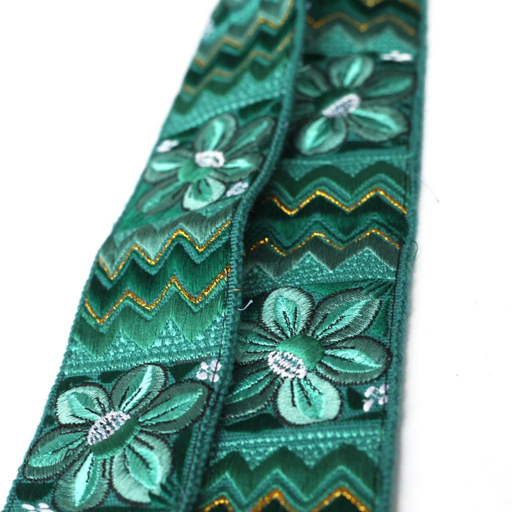 Leather Embroidered Strap - No. 426 Izabal