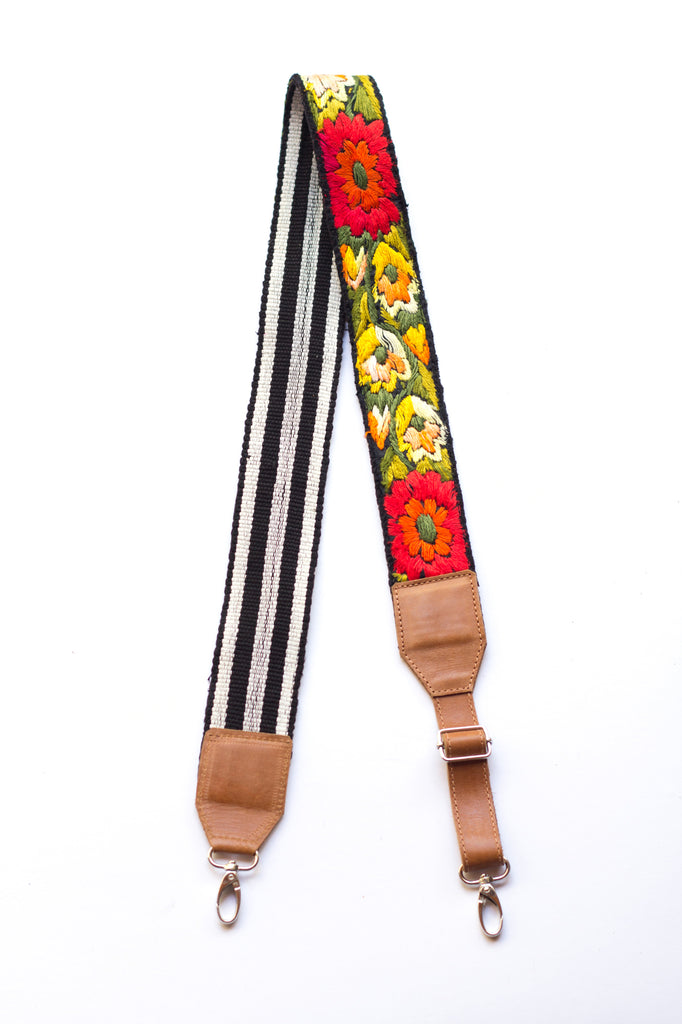 Adjustable Embroidered Strap - No. 590 Lotus
