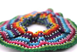 hiptipico fashion, handmade, scrunchies, colorful, hair ties, recycled, guatemala textiles, ethical brand, hair wrap, headband