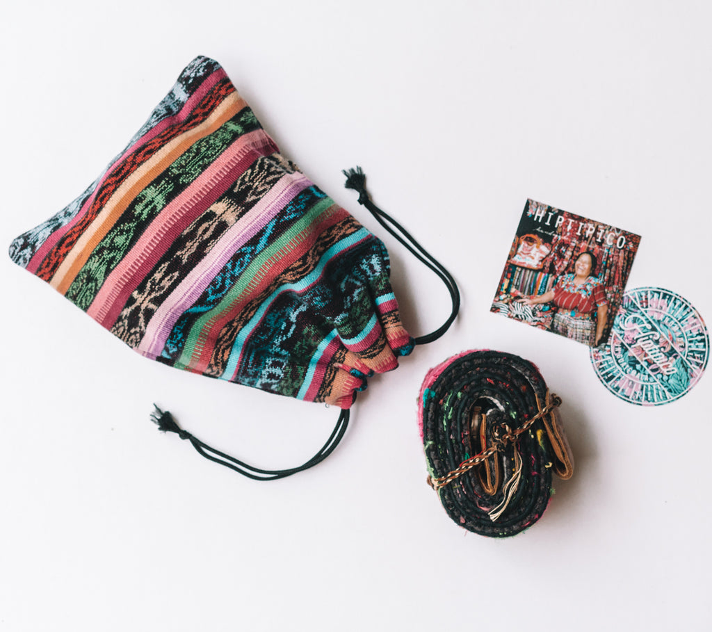 Embroidered Backpack Straps - No. 124 Cascade