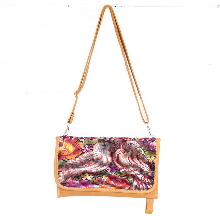 Hiptipico clutches, Handmade clutches, Textile handbag, Hiptipico bags, Tan Leather Clutches